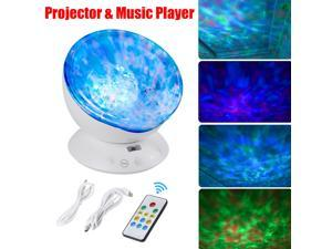 Romantic LED Ocean Wave Laser Projector 7 Color Party Projection Night Light