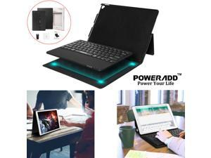 """For iPad Pro 12.9"""" 1st  2nd Gen Bluetooth Combo Keyboard PU Leather Case Stand"""