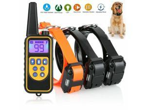 3-dogs 880yard Waterproof Rechargeable Dog Shock Pet  Training Electric Collar