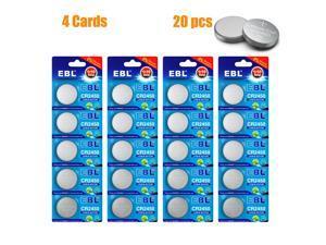 20pcs   CR2450 ECR2450 CR 2450 4 Cards 3V Lithium Coin Cell Button Battery