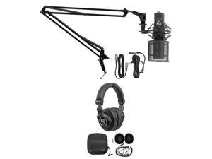 PC Gaming Streaming Twitch Bundle: RCM PRO Microphone+Headphones+Boom