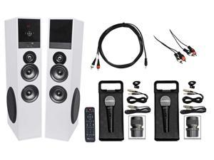 All-in-one Bluetooth Home Theater/Karaoke Machine System+Microphones