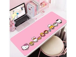 Hello Kitty Pink Durable Rubber PC Laptop Anti-slip Mouse Pad    Lock Edge Desk Pad