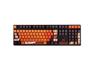 Anime Mechanical keyboard Keycaps Genshin impact 108 Keycaps Full Set DIY (excluding keyboard)