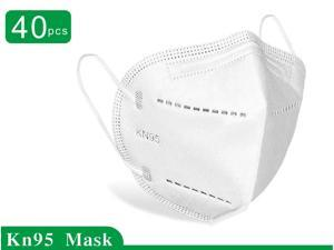 40 Pcs N95 Face Mask Protective Respirator, pm2.5 5-Layer KN95 Mask Face Mask Adult Anti-fog Haze Dustproof Non-Woven Fabrics Mask