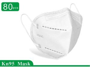 80 Pcs N95 Mask Protective Respirator, pm2.5 5-Layer KN95 Mask Face Mask Adult Anti-fog Haze Dustproof Non-Woven Fabrics Mask