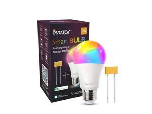 Smart Light Bulb with PowerOn Technology, AvatarControls RGBCW Dimmable Color Changing WiFi LED Light Bulbs Work with Alexa/Google Home Assistant/APP, (3000K~6200K, 900LM E26 A19 70W Equivalent)
