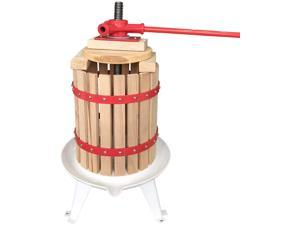 6L New Home Manual Solid Wood Basket Fruit Wine Press-100% Natural Juice Making for Apple/Orange/Berry/Vegetables,Cheese&Tincture&Honey Press