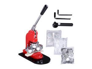 New Button Maker Machine 1.25'' 32mm Button Badge Maker Punch Press Machine with 100pcs Circle Button Parts and Circle Cutter