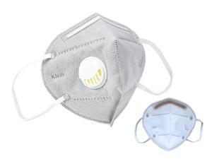 30 Pieces KN95 Mask JINJIANG Reusable Activated Carbon Mask 6-layers - Valved Face Mask N95 FFP2 with Breathing Valve Gray