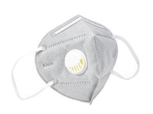 50 Pieces KN95 Mask JINJIANG Reusable Activated Carbon Mask 6-layers - Valved Face Mask N95 FFP2 with Breathing Valve Gray