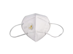 15PCS Reusable KN95 Mask With Breathing Valve N95 Protection Face Mask Folding Fespirator White
