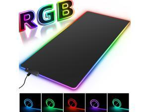 Large Gaming Mouse Pad XL, RGB Mouse Pad Oversized Glowing RGB Extended Soft Mat Surface Mouse Pads with 13 Lighting Modes 2 Brightness Level for Gaming PC, 31.5×11.8 in
