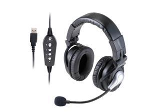 ALTEAM Over Ear Wired Gaming Headset with 4 Driver Units Each Ear Pro Game Headphone with Microphone/Volume Control/Mute Function Virtual 7.1 Surround Sound, USB Plug Specially for PC Computer Laptop