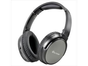 ALTEAM Superior Active Noise Cancelling Headphones with Mic, Wired Headsets with 40mm Driver, Black, Foldable and Lightweight Over The Ear Headphones for Travel/Work/Daily Use with Carrying Case