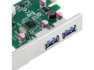 USB 3.0 PCI Express PCI-E Card HUB Chipset Adapter 2 Port New