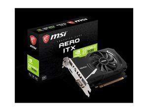 MSI GeForce GT 1030 DirectX 12 GT 1030 AERO ITX 2GD4 OCV1 2GB 64-Bit GDDR4 PCI Express 3.0 x16 (uses x4)  ITX Video Card