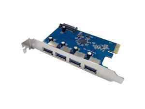 X-MEDIA 4-Port USB 3.0 PCI Express (PCIe) Host Controller Card Adapter