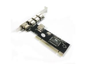 X-MEDIA 5-Port (4+1) High Speed USB 2.0 PCI Host Controller Card Adapter