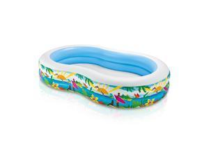 Intex 8.5ft x 5.25ft x 18in Swim Center Paradise Seaside Inflatable Kiddie Pool