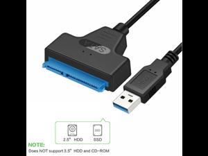 USB 3.0 SATA III Hard Drive Adapter Cable, SATA to USB Adapter Cable for 2.5 inch SSD & HDD,UASP-SATA to USB3.0 Converter, Black