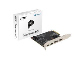 MSI ThunderboltM3 PCI-E 3.0 x4 Add-on Card for 2 x Thunderbolt 3 (USB-C) Ports