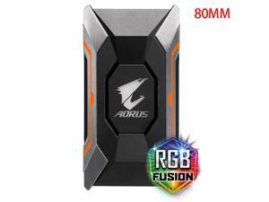 GIGABYTE AORUS N10 SLI HB Bridge RGB Light Supports AORUS Dual Graphics Card Crossfire 80MM