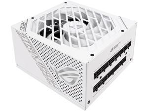 ASUS ROG STRIX 850G 850W White Edition Power Supply, ROG Heatsinks, Axial-tech Fan Design, Dual Ball Fan Bearings, 0dB Technology, 80 PLUS Gold Certification, Fully Modular Cables,