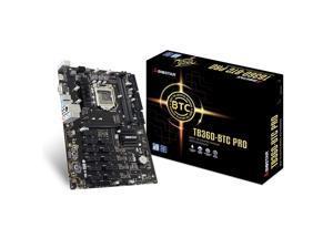 Biostar Tb360-Btc Pro Atx 32G 12 X Pci-E 3.0 Usb 3.1 Intel Btc Mine Board For Cryptocurrency Mining (Btc),Support 12 Gpu Mining Motherboard