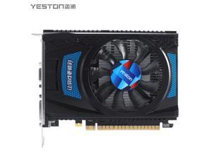 Yeston Radeon RX 550 2G D5 TF Gaming Graphics Card Video Card GPU Fan Edition, 2G/128bit/GDDR5 PCI-Express 3.0 ,DVI-D+HDMI+DP desktop PC Graphics Card (RX550-2G D5 TF)
