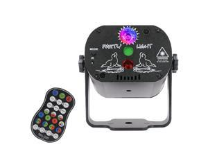 SANUME USB Mini Laser Light Sound Activated Disco Lights Party Lights With Remote Control DJ Lighting Led 3W RGB Light Dance lightshow for Home Room Parties Kids Birthday Wedding Show Club Pub
