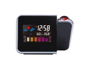 SANUME Projection Clock Led Color Screen Clock Lazy Electronic Clock Digital Alarm Clock Weather Station LED Temperature Humidity Weather Forecast