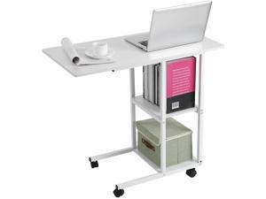 Overbed Rolling Table Over Bed Laptop Food Tray Hospital Desk Cart Home