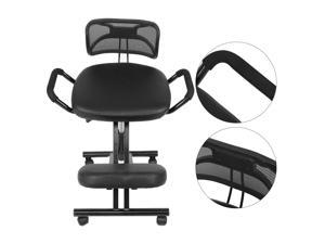 Ergonomic Rolling Kneeling Chair Seat Knee Stool w/Back Support For Home Office