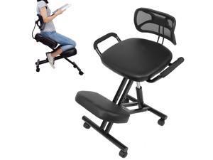 Back Support Kneeling Chair Ergonomic Posture Correction Adjustable Knee Stool
