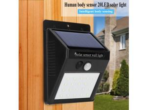 2 Pcs Waterproof 20 LED Solar Power PIR Motion Sensor Wall Light Outdoor Garden Lamp