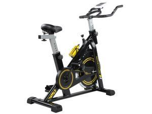 Exercise Bike Fitness Gym Indoor Cycling Stationary Bicycle Cardio Workout 8KG Steel ABS Indoor Exercise Bike Spinning Mute Flywheel Cycling Bicycle Fitness Training