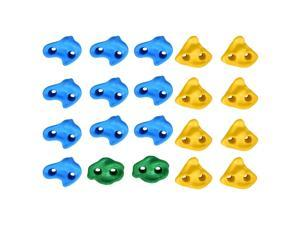 20X Rock Climbing Holds Wall Stones+Bolts In/Outdoor Playground for Kid Multi-colour Textured Climbing Rocks Wall Stones Kids Assorted Kit Bolt