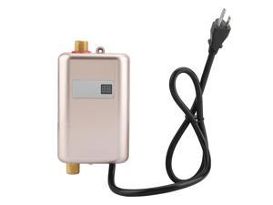 110V 3000W Mini Electric Tankless Instant Hot Water Heater Bathroom Kitchen Washing Golden