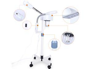 2 in 1 Facial Steamer 3X Magnifying Lamp Beauty Steamer Machine Spa Salon Beauty