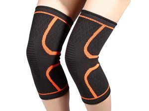 2Pcs Knee Support Protector Anti-slip Breathable for Men Outdoor Running Cycling