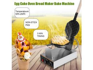 Commercial Eggettes Puff Cake Waffles Iron Waffle Maker Machine Egg Cake Oven
