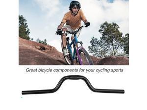Outdoor Aluminum Mountain Bike Road Bicycle Fixed Gear Riser Bar Handlebar Black