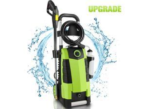 Electric high pressure washer, 3000PSI high pressure washer, suitable for cleaning of car fence terrace garden, 1.7GPM 1800W power washer, green