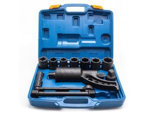 Heavy Duty Torque Multiplier Set Wrench Labor Saving 4ps Sockets Black