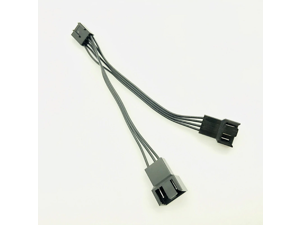 4Pin Fan PWM Cable 1 to 2 way 4 Pin 3Pin Power Supply Extension Cable 4P Cooler Port Multiplier Female to Male Cooling Fan Cable