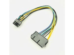Computer Cable PSU ATX 20Pin to 10Pin Female to Male Adapter Converter Power Supply Cable Cord 30cm for Lenovo Motherboard 18AWG