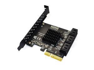 SATA PCI e Adapter 6 Ports SATA 3.0 to PCI Express x4 Expansion Card SATA3.0 PCIe PCI-e SATA Controller for HDD ASMedia ASM1166