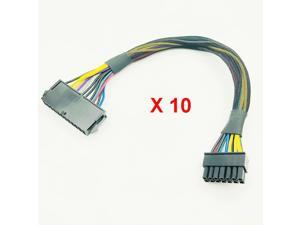 10PCS  ATX 24Pin to 14Pin Power Supply Cable Cord 24p to 14p 18AWG Wire for Lenovo Q77 B75 A75 Q75 H81 Motherboard