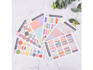 6sheets/lot Vintage Floral Paper Sticker Diy Scrapbooking Diary Sticker Kawaii Stationery Stickers School Supplies